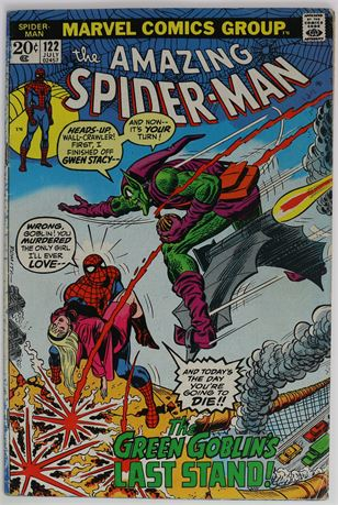 Amazing Spider-Man #122 VG+ 1973