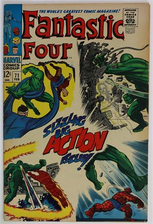 Fantastic Four #71 F/VF 1968