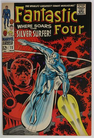 Fantastic Four #72 VF- 1968