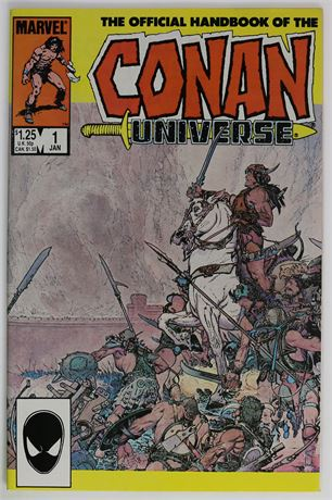 Handbook of the Conan Universe #1 VF/NM 1986