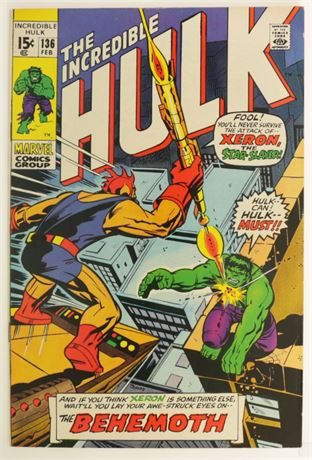 Incredible Hulk #136 F/VF 1971