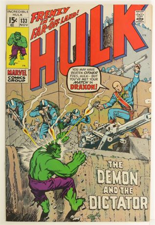 Incredible Hulk #133 FN+ 1970