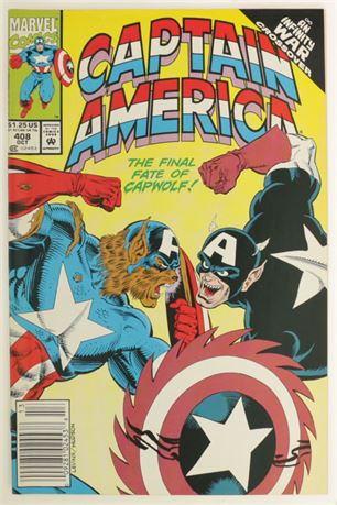 Captain America #408 VF- 1992