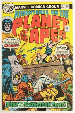 Adventures On The Planet Of The Apes #5 VF/NM 1976
