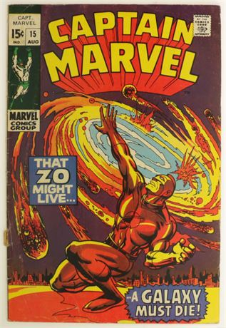 Captain Marvel #15 G/VG 1969