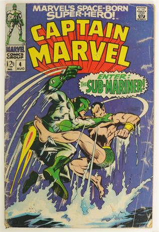 Captain Marvel #4 FR/GD 1968