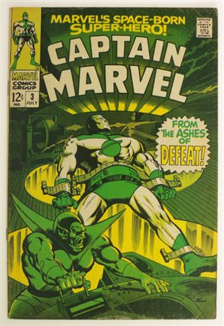 Captain Marvel #3 VG 1968