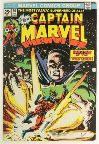 Captain Marvel #36 FN 1975
