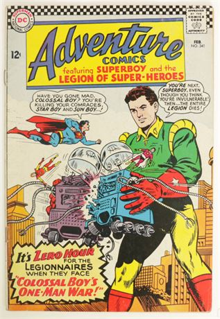 Adventure Comics #341 GD+ 1966