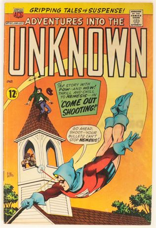 Adventures Into The Unknown #165 VG+ 1966