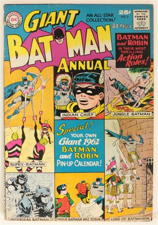 Batman Annual #2 G/VG 1961