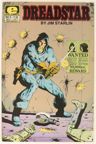 Dreadstar #3 VF+ 1983