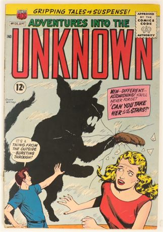Adventures Into The Unknown #135 VG- 1962