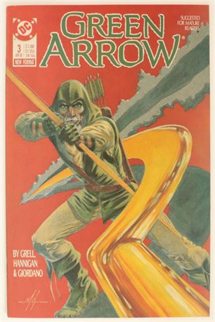 Green Arrow #3 VF+ 1988