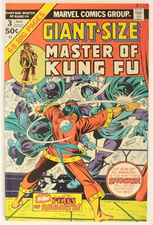 Giant-Size Master of Kung Fu #3 VF+ 1975