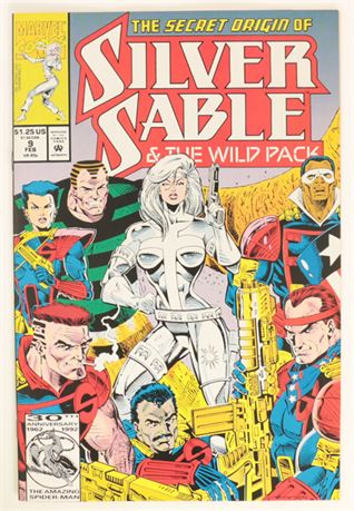 Silver Sable And The Wild Pack #9 VF 1993