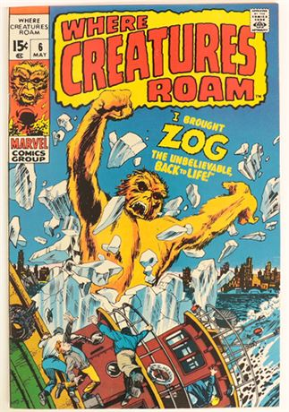 Where Creatures Roam #6 F/VF 1970