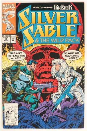 Silver Sable And The Wild Pack #10 VF+ 1993