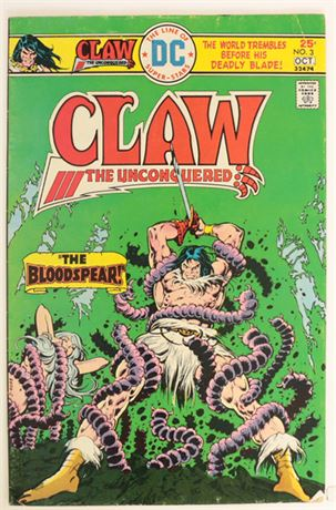 Claw The Unconquered #3 VG+ 1975