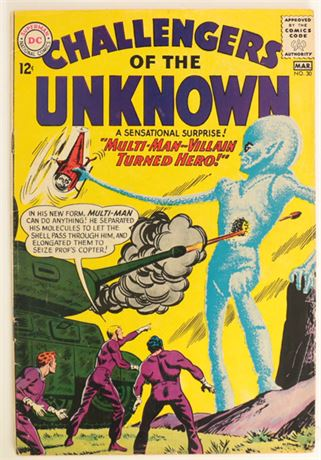 Challengers of The Unknown #30 GD 1963