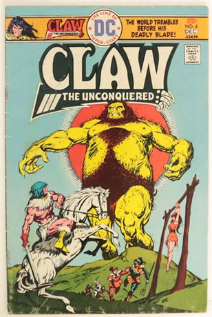 Claw The Unconquered #4 G/VG 1975