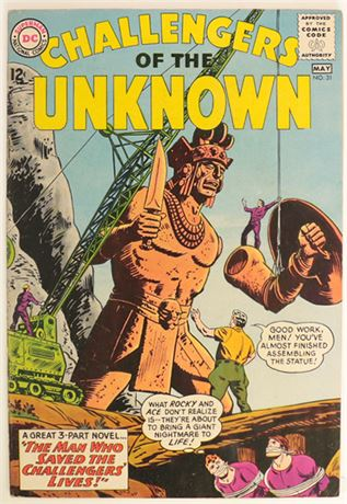 Challengers of The Unknown #31 VG 1963
