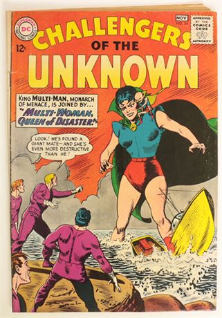 Challengers of The Unknown #34 VG 1963