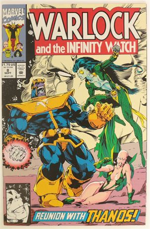 Warlock and The Infinity Watch #8 VF/NM 1992
