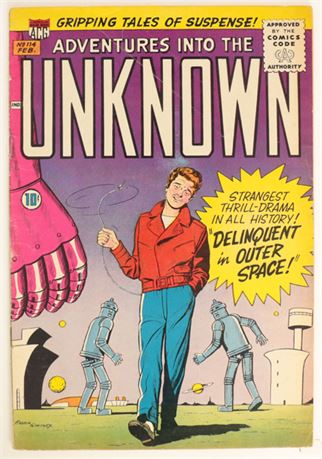 Adventures Into The Unknown #114 VG 1960