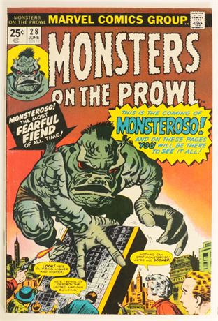 Monsters On The Prowl #28 VG/F 1974