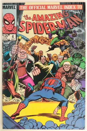 Official Marvel Index to The Amazing Spider-Man #4 F/VF 1985