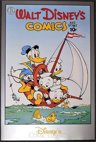 Comic Book Library Poster #1: Donald with Sailboat