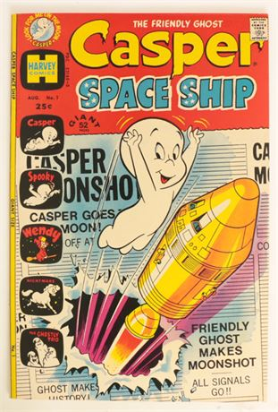 Casper Spaceship #1 VF 1972