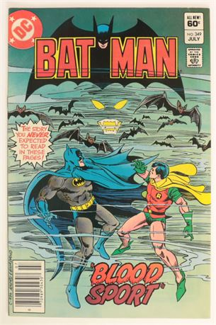 Batman #349 F/VF 1982