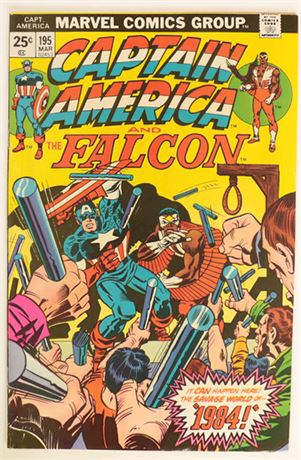Captain America #195 VF- 1976