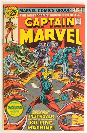 Captain Marvel #44 VG+ 1974