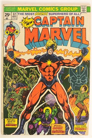 Captain Marvel #32 GD+ 1974