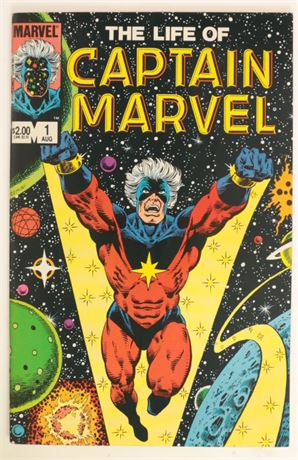 Life of Captain Marvel #1 VF- 1985