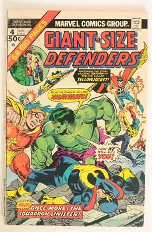 Giant-Size Defenders #4 G/VG 1975