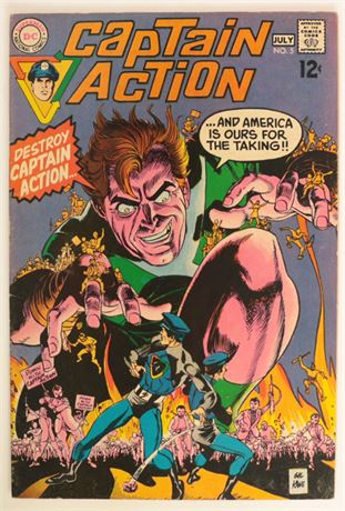 Captain Action #5 FN- 1969