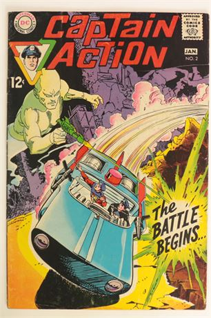 Captain Action #2 FN- 1969