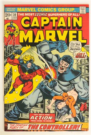 Captain Marvel #30 VG+ 1974