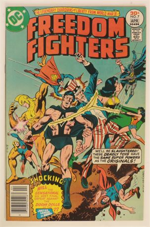 Freedom Fighters #7 VF/NM 1977