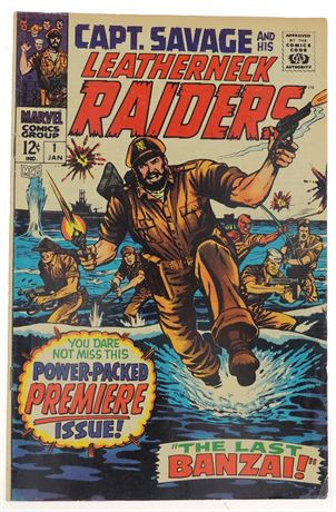 Captain Savage and His Leatherneck Raiders #1 VG/F 1968