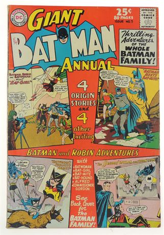Batman Annual #7 FN+ 1964