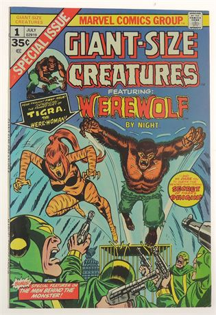 Giant-Size Creatures #1 VF+ 1974