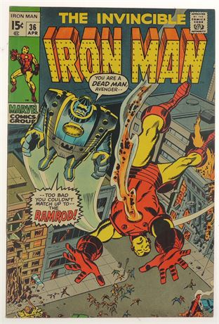 Iron Man #36 VF- 1971