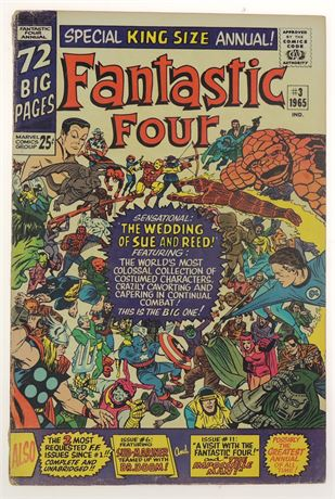 Fantastic Four Annual #3 FN 1965