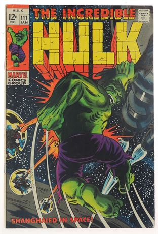 Incredible Hulk #111 FN 1969